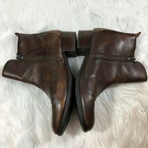 Born Shoes - Born Brown Leather Landa Ankle Boots D41116